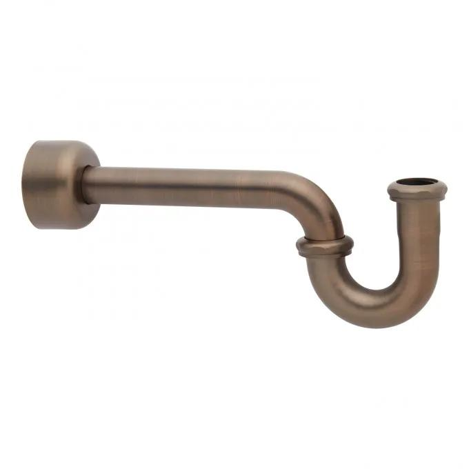 """1-1/4"""" P Trap with Deep Flange - Oil Rubbed Bronze"""