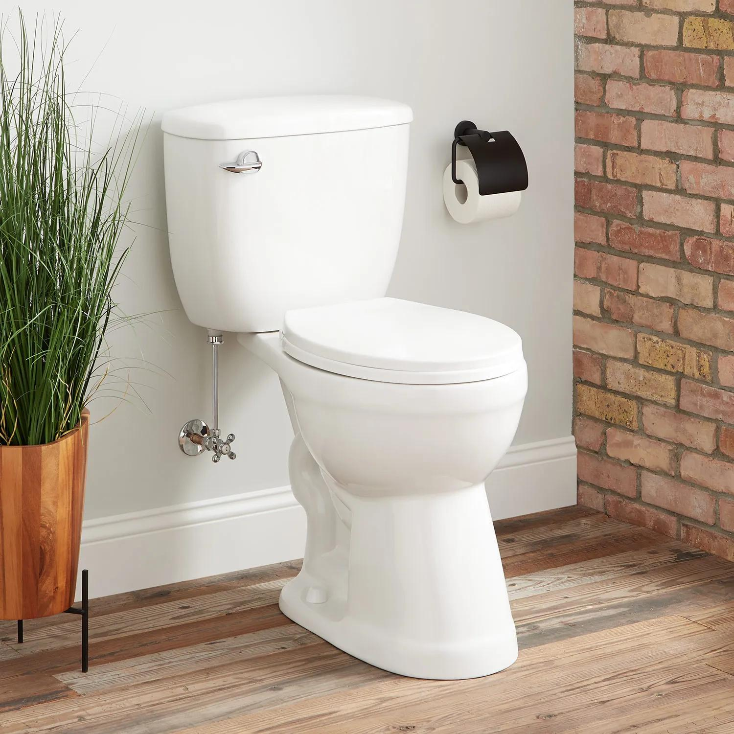 Stalnaker Siphonic Two Piece Round Toilet 19 Seat Height