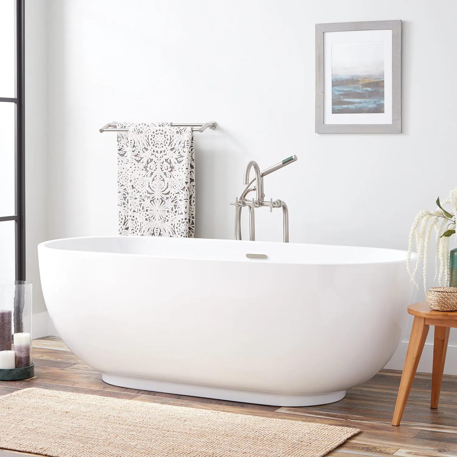 71 Hazel Acrylic Freestanding Tub Bathroom