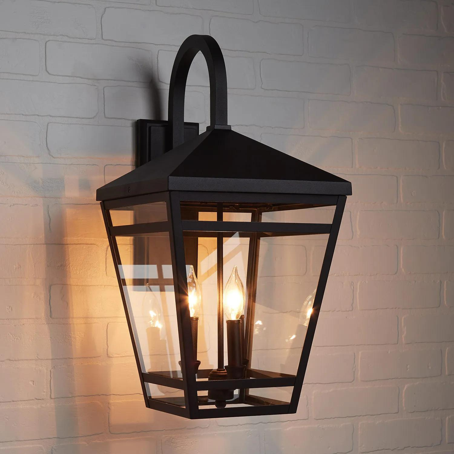 Edgehill 3 Light Outdoor Entrance Wall Sconce Black Outdoor Lighting Lighting