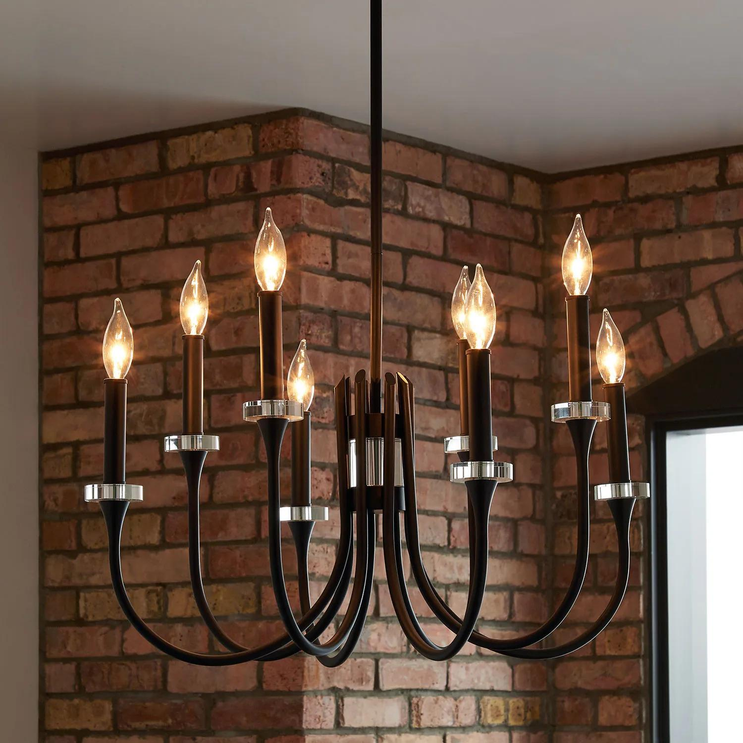 Blackpool 8 Light Chandelier Black Lighting