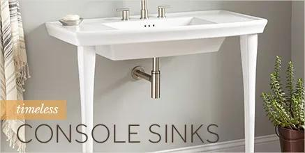 Timeless Console Sinks